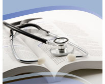 open book with stethoscope on top